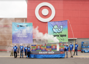 Photo os launch day action at Target
