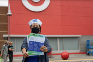 Photo of launch day action at Target