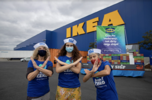 Photo of launch day action at Ikea